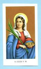 SANTINO  S.LUCIA V.M  IMAGE PIEUSE - HOLY CARD SANTINI
