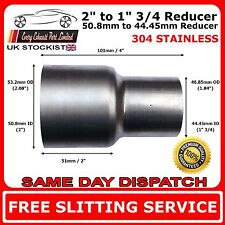 "2"" to 1.75"" Stainless Steel Flared Exhaust Reducer Connector Pipe Tube"