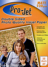 200 Feuilles Projet 220g/m² A4 double face mat/ mat Papier photo