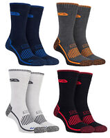 Storm Bloc - 2 Pairs Mens Reinforced Cushioned Heavy Duty Cotton Work Boot Socks