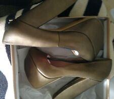 Sexy-women Fahrenheit bronze peep toe platform high heels sz.8