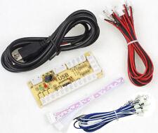 Zero Delay USB Encoder For PC Raspberry Retro Pie Sanwa or Happs Cables Encoder