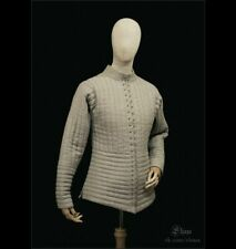 Medieval Gambeson Costume Reenactment Theater Off White Color Nice Dress