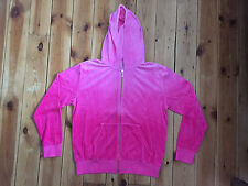 NEW JUICY COUTURE PASSIN PINK OMBRE ZIP FRONT HOODIE SIZE M / L / XL