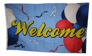 3x5 Advertising Welcome Celebration Party Flag 3'x5' Banner Brass Grommets