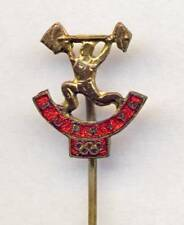 old TURKEY Olympic PIN Badge Weightlifting Turkiye NOC