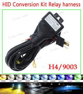 HID Relay Harness H4 (9003 HB2) 12V 35W/55W Bi-Xenon Hi/Lo BEAM Wiring Wire