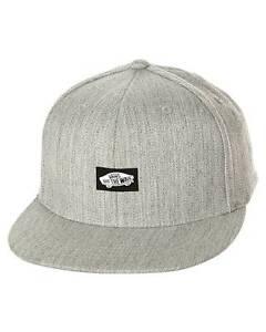 Vans Off The Wall Heel Scab Flexfit Mens Gray Ball Hat Cap Wool Flex Fit NWT