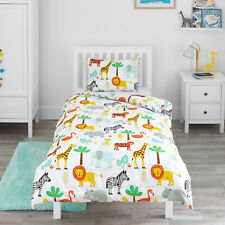 ikea stunsig single cover and one pillowcase giraffe kids boys