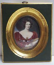 Haffke Miniatur  Gemälde  Lady Lyndhurst  14 x 12 cm 162 /2