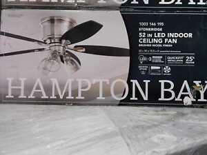 Stoneridge 52'' LED Indoor Brushed Nickel Hugger Ceiling Fan w/ Light Kit by HDC