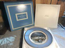 Vintage 1979 Avon Christmas Collector Plates ~ Dashing Through the Snow w/Box