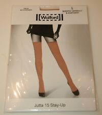 Wolford Jutta 15 Denier Stay Ups Hold Ups Thigh High Large Cosmetic Nude