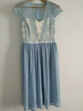ASOS  Pastel Blue Dress Lace Cami Top Tulle Midi size 10 wedding prom