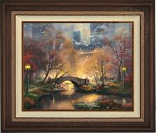 "Thomas Kinkade CENTRAL PARK FALL 24"" x 30"" LE G/P Canvas (Walnutl Frame)"