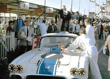 ROY WINKELMANN CHEVROLET CORVETTE 1962 GOODWOOD TOURIST TROPHY DAN COLLINS pit