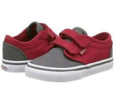 New Vans ATWOOD V 2 Tone Grey/Red Toddler Shoes Size 5 Hook and Latch