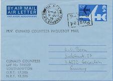 2422 1978 QEII 10 ½ P Air Letter (VARIETY/ERROR: blue dot) COMBINED MARITIME/AIR