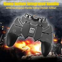 AK66 Six Fingers Game Controller Trigger Shooting Gamepad Black for PUBG Mobile