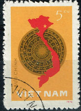 Vietnam War Viet Cong Army Victory Map 1979 stamp