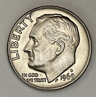1969 D Roosevelt Dime 10 Cents Uncirculated Coin  (2539)