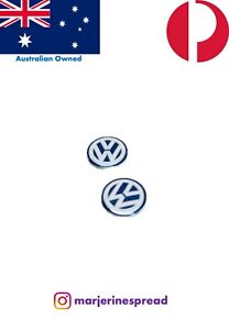 2X 14mm Volkswagen Sticker Key Fob Remote Badge Emblem Logo AS PER GENUINE