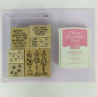 Stampin' Up! Lot 2003 I Like Your Style Dress Wood Rubber Stamp Set Ink & Paper