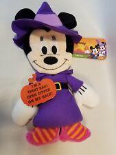 Disney Minnie Plush Halloween Treat Bag Witch Costume Stuffed Animal Mickey