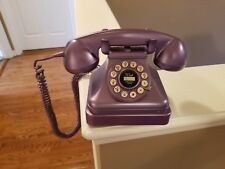 Crosley CR 62 Purple,! Old Fashion Corded Vintage Rotary Push Button Phone