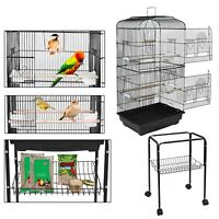 Movable 59''Rolling Stand Large Bird Parrot Pet Cage Chinchilla Cockatiel Conure