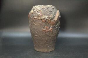 Japanese Ceramic phoenix Flower Vase Dragon pottery BV199