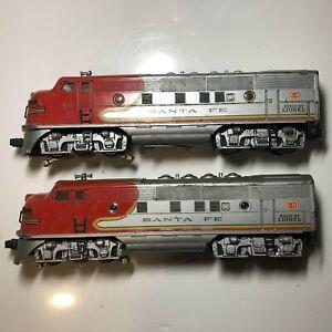 Vintage Lot of (2) LIONEL Locomotive Sante Fe # 2333-20 &  Dummy Train