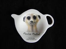 1 x Ashdene Tea Bag Holder Spoon Rest Meerkat Mischief Face
