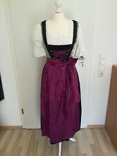 Oscartrachten Dirndl Gr. 34 3-Teilig (Kleid, Bluse, Schürze) Lila, Schwarz, Grün