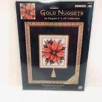 Dimensions Gold Nuggets Poinsettia Elegance Counted Cross Stitch Kit Christmas