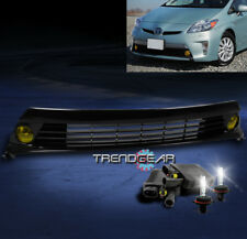 2012-2015 TOYOTA PRIUS BUMPER YELLOW FOG LIGHT+GRILLE INSERT W/8000K HID+HARNESS