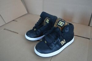 New/Display DC Shoes Youth Rebound Black / Wheat Hightops 302676B