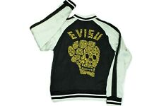 Authentic Evisu Reversible Skull Embroidered Silk Sukajan Jacket Size XL
