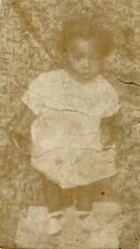 Antique African American Baby Girl Adorable Little Old Photo Black Americana