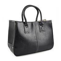 Fashion Damen Klasse PU-Leder Handtasche - Schwarz  C2W5