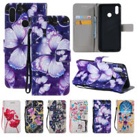 For Huawei Nova 3e/ 3i /2i Patterned Flip Leather Wallet Card Case Stand Cover
