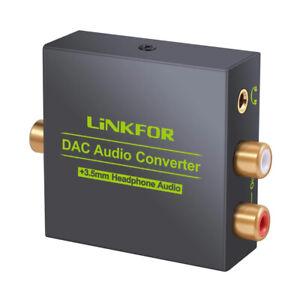 Convertitore audio da digitale ottico toslink ad analogico stereo RCA + 3.5mm