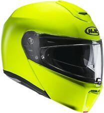 Soxon sf-99 Neon Yellow pieghevole-CASCO MOTO-CASCO SCOOTER-CASCO INTEGRALE Casco XS-XL