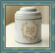 Retro Double Lid Cylinder Cans Tin Sealed Storage Candy Tea Coffee Box