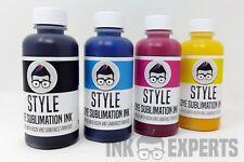 """100ml inchiostro esperti """"Subli-stile"""" sublimazione inchiostro 4 colori per stampante Sawgrass"""