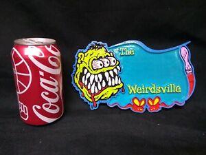Rat Fink Weirdsville,Hot Rat Rod,Plate, Sideshow, Oddity, Freak, Custom paint,