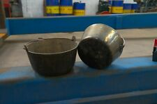More details for vintage brass jam pans two available