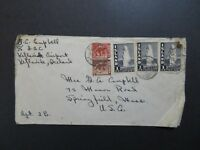 Iceland 1947 Cover to USA / Creasing / Right Stamp Damaged - Z84554