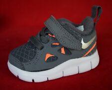 New Nike Free Run 2.0 Baby / Crib Shoe SIZE 2 C 443744 009 Gray Orange White Sil