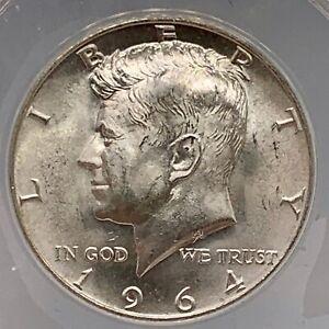 Kennedy Half Dollar 1964 MS 65 ANACS GRADED Beautiful 90%Silver Historic Coin.